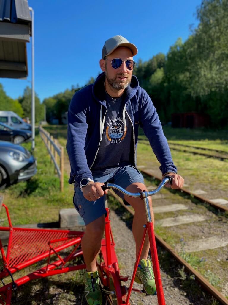 Aktivitäten in und um Bengtsfors: mit der Draisine fahren 24